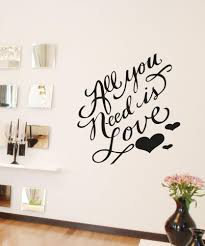 inspirational quotes wall decals inspirational wall stickers vinyl wall decal sticker all you need is love os aa1499