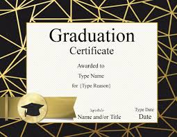 graduation certificate template customize online u0026 print