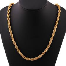 gold necklace men fashion images Men fashion luxury filled curb cuban link gold necklace jewelry jpg
