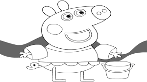 peppa pig coloring pages game song nursery rhyme for kids youtube