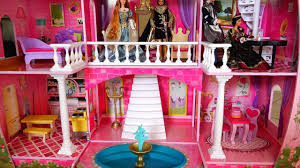 my new barbie dollhouse cute toy fairy tale castle review and