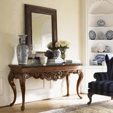 perfect mirror console table beauty home decor image of mirror behind console table