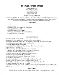 real estate resumes 1 real estate assistant resume templates try them now with real