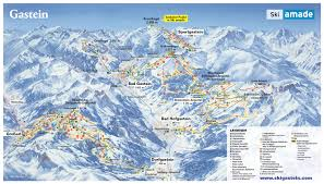 Mountain Ranges World Map by Bergfex Piste Map Bad Hofgastein Ski Amade Panoramic Map Bad