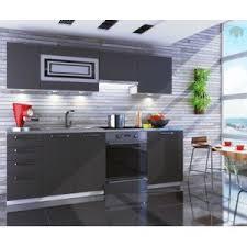 vente de cuisine dusine cuisine gris mat giovanna 7 éléments 2m40 pas cher achat