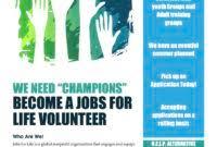 volunteer brochure template volunteer brochure template the best templates collection