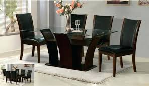 glass parsons dining table glass top wood dining table glass top dining table with wooden base