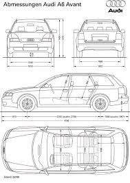 dimension audi a6 audi a6 avant 1998 smcars car blueprints forum