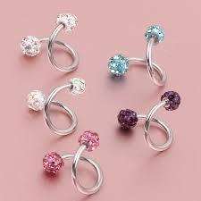helix cartilage earrings aliexpress buy steel stainless steel cz twist