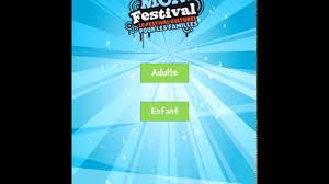 mobile enfant design agence ninja mon festival 2016 application mobile sondage