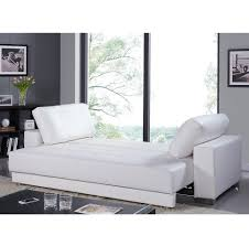 Sofa Bed Chaise Lounge by Cloe Eco Leather Sofa Bed White Casabianca Furniture Modern