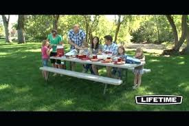 lifetime foldable picnic table lifetime table with benches andreuorte com