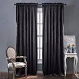 Deep Red Velvet Curtains Amazon Com Maytex Velvet Blackout Panel Curtain Black 40