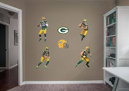 Green Bay Packers Home Decor Life Size Green Bay Packers Power Pack Fathead Wall Decal Shop
