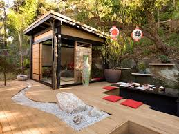AsianInspired Landscape Design Backyard Tatami Room And Gardens - Backyard room designs