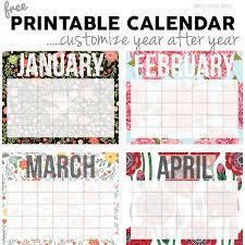 printable calendars free free calendar