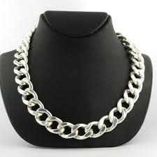 curb link necklace images 925 silver men 39 s curb link necklace 70 cm long catawiki jpg