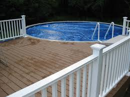 pool 5 simple wooden pool deck ideas for small and round