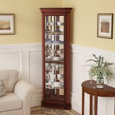 wayfair corner curio cabinet three posts hollingdon lighted corner curio cabinet reviews