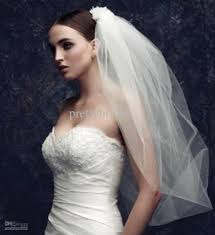 bridal veil hot white ivory two layer bridal veil layer flyaway