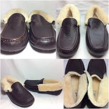 ugg grantt sale 55 ugg other ugg grantt mens china tea leather slippers sz