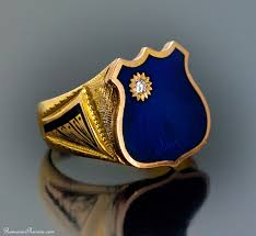 mens rings sale images Antique men 39 s signet ring russian gents gold enamel shield ring jpg