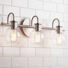 Bath Lighting Vintage Arc Shade Bath Light 3 Light Shades Of Light