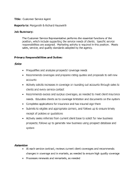 Resume Examples For Customer Service Jobs by Job Description For Server For Resume Sample Customer Service