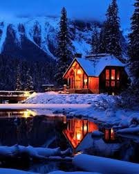 winter cabin emerald lake lodge in the canadian rockies and cozy