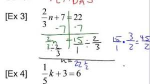 solving two step equations with rational numbers youtube