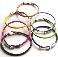 bracelet leather cord images Colored leather cord bracelet assorted colors wholesale jewelry jpg