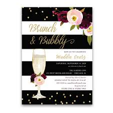 brunch bridal shower invitations brunch and bubbly bridal shower invitation stripe purple floral