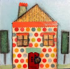 angela anderson art blog cute houses mixed media project kid u0027s