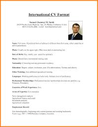 international resume sample curriculum vitae english example pdf
