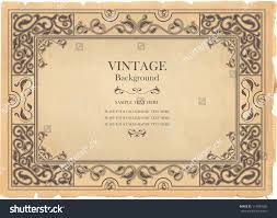 Old Fashioned Picture Frames Vintage Background Oldfashioned Ripped Grungy Paper Stock Vector