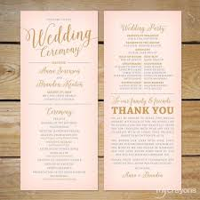 wedding ceremony program wedding program ideas best 25 printable wedding programs ideas on