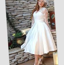 plus size wedding dresses with sleeves tea length plus size retro wedding dresses wedding ideas