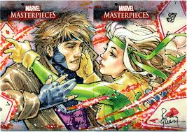 rogue and gambit sketch card by randygreen on deviantart