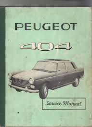 peugeot 404 1962 workshop manual pdf