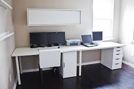 Gaming Desk Setup Ideas Ikea Gaming Desk Ideas Clean White Computer Setup From Linnmon