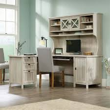 L Shaped Computer Desks With Hutch Sauder Costa L Shaped Computer Desk With Hutch In Chalked Chestnut
