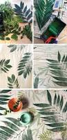 diy tutorial how to print with leaves onto fabric leaves