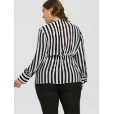 black and white striped blouse wholesale plus size empire waist zebra striped blouse in black