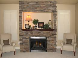 Decorating Living Room With Stone Fireplace Decor U0026 Tips Stunning Stone Fireplaces And Mantle With Baseboard