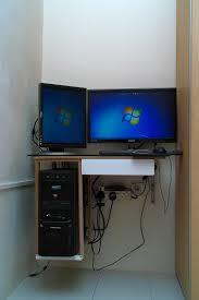 Diy Pc Desk Diy Small Wall Mounted Computer Table Asahjaya S Place