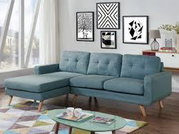 achat canape d angle canapé d angle en tissu bleu angle gauche sigrid tendance