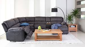 Fabric Corner Recliner Sofa Bourbon Fabric Modular Corner Recliner Lounge Suite Lounges