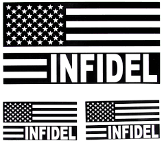 Black And White American Flag Infidel American Flag Black And White Us Flag Sticker Us Flag