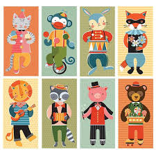 petit collage mix match cards animal jamboree oompa toys