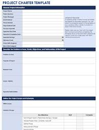 Six Sigma Project Charter Template Excel Project Overview Template 8 Simple Project Format